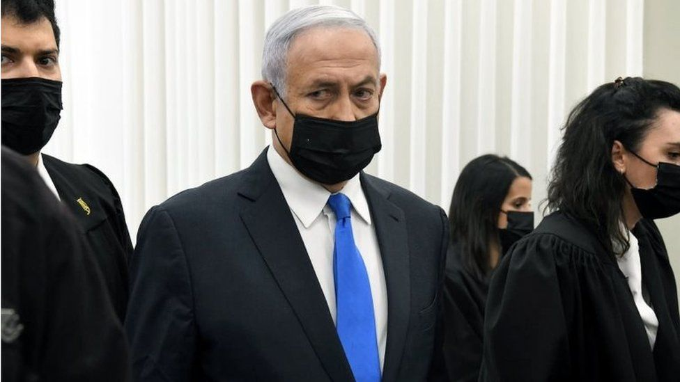 Benjamin Netanyahu in court (08/01/21)