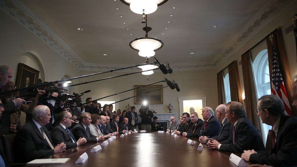 President Trump announced his intention to impose a 25% tariff on all US steel imports at the White House.