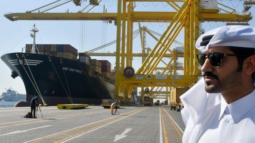 Hamad port in Doha (14/06/17)