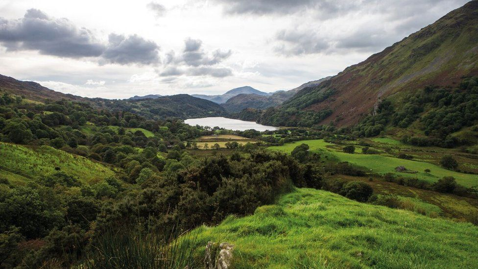 Welsh mountains and lake
