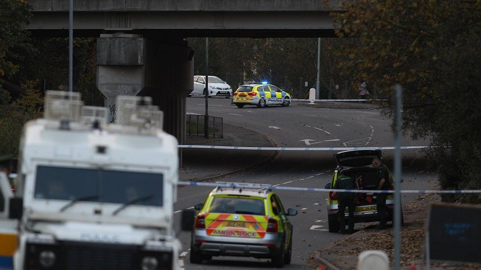 The scene where 81-year-old George McCaul was struck by a car