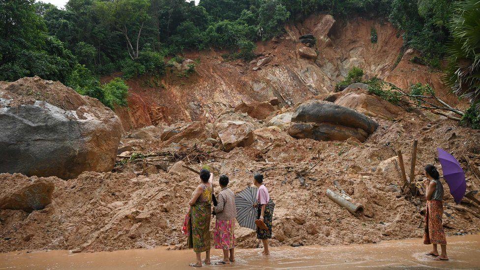 Landslide in Myanmar