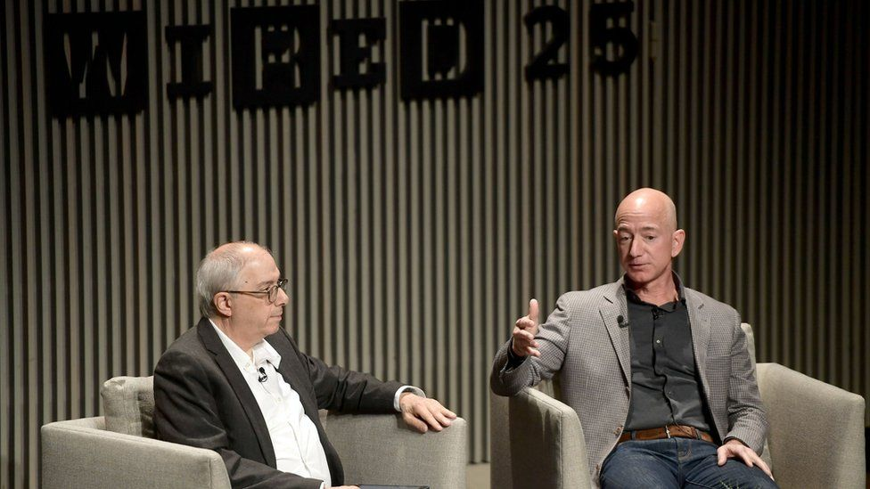 Jeff Bezos was speaking at an anniversary event for technology magazine Wired