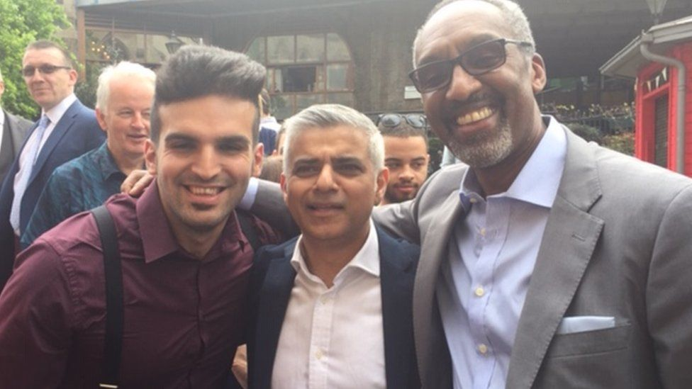 Leroy Logan, with mayor of London Sadiq Khan