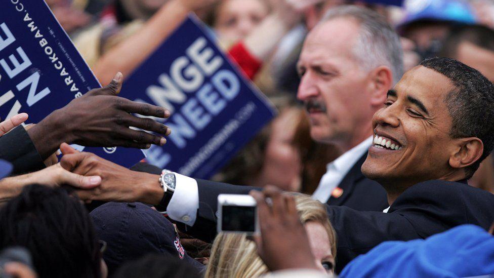 Obama in October 2008