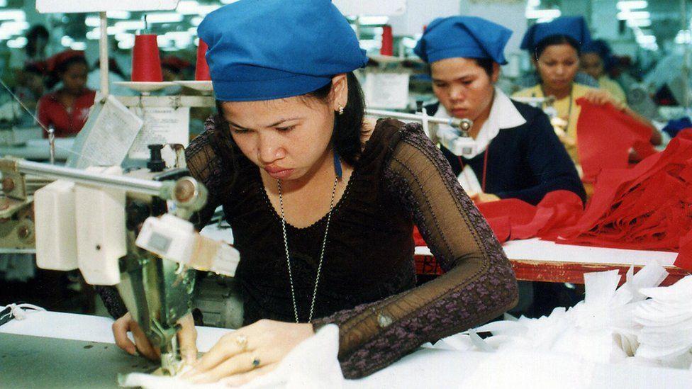 Cambodian textile factory