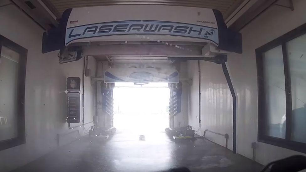 A laserwash car wash