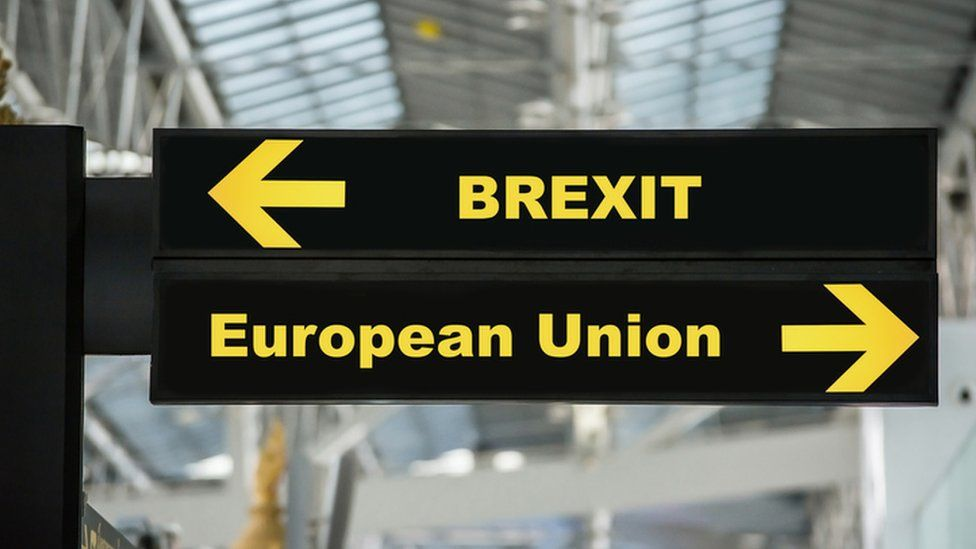 Brexit and European Union signs
