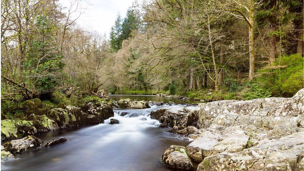 The river Llugwy at Betws-y-Coed in Conwy County
