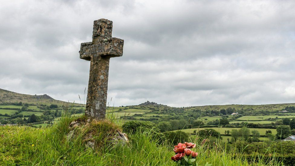 A cross on a grave