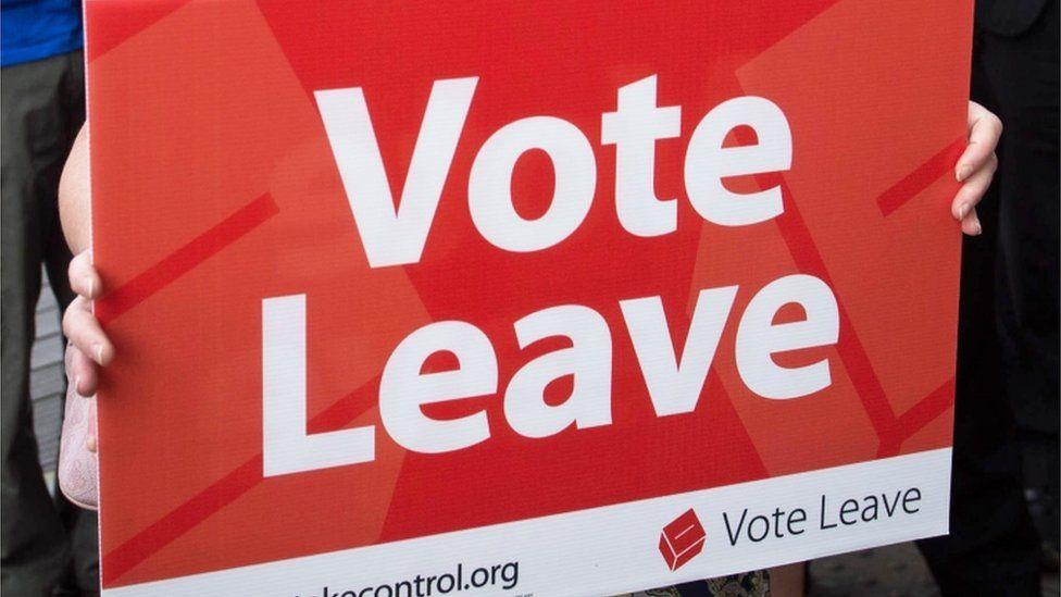 Vote Leave placard