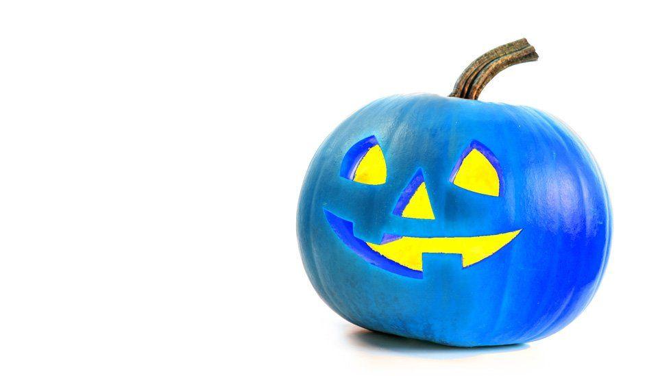 A blue pumpkin