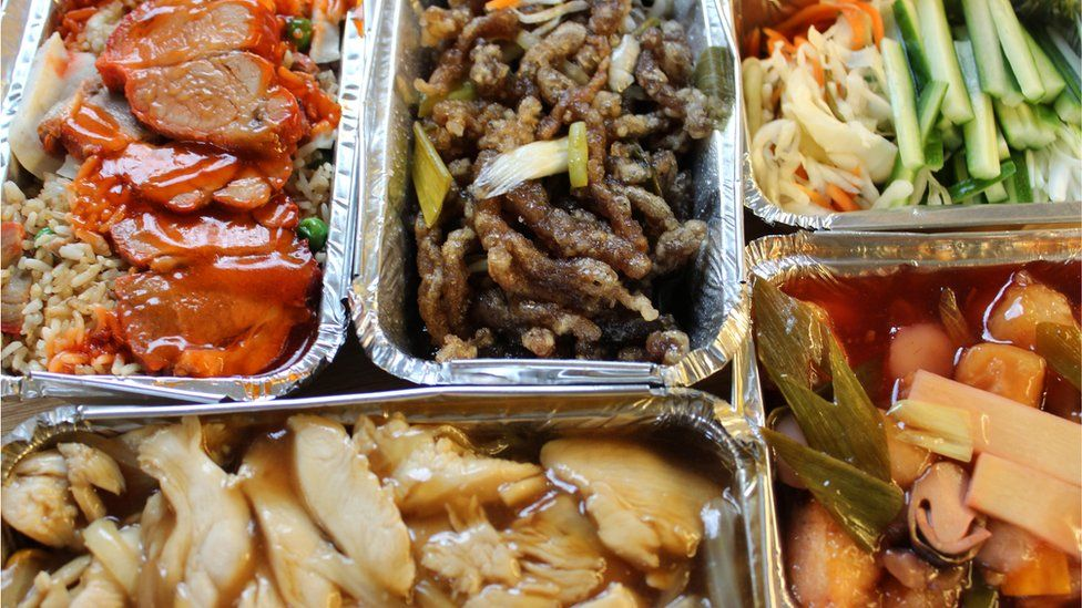 Chinese takeaway dishes