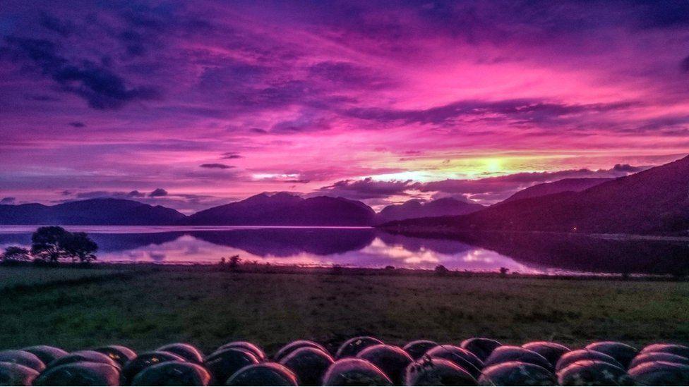 Purple sunset over Loch Linnhe