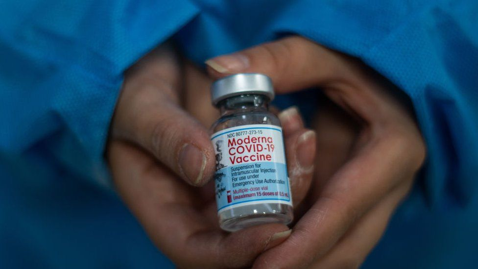File photo of Moderna vaccine