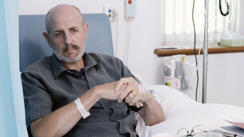 David Shutts undergoing chemotherapy