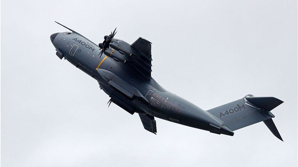 The A400M in flight