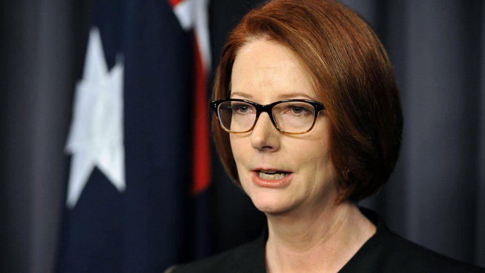 Julia Gillard during a speech