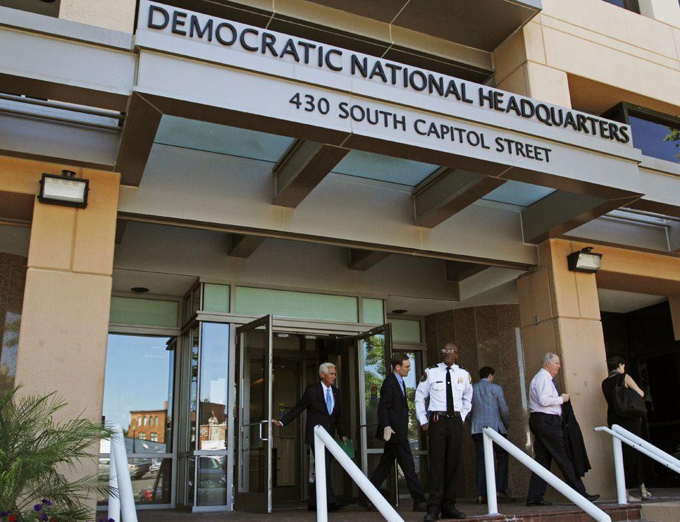 DNC building in Washington, June 2016