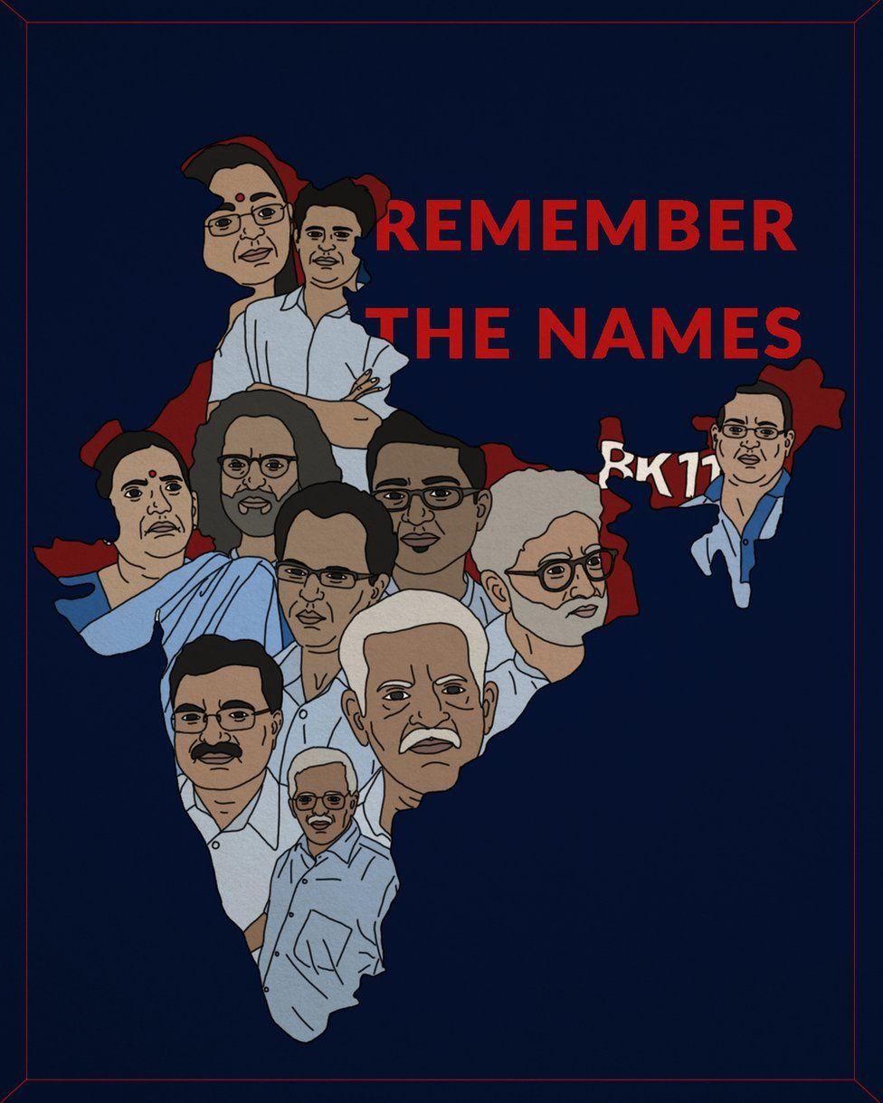 Dalit artist Siddhesh Gautam's drawing of Prof Teltumbde and other jailed activists