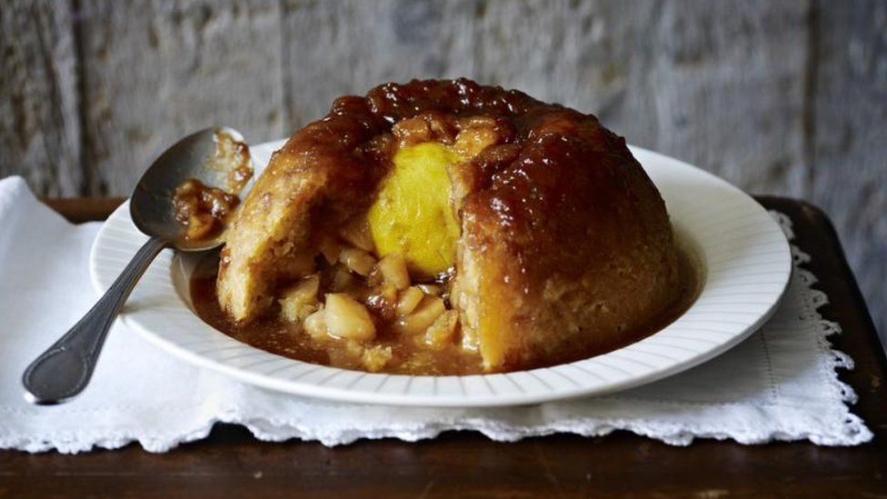 Sussex Pond Pudding with apples, a Mary Berry take on the classic