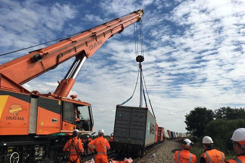 derailed train latest