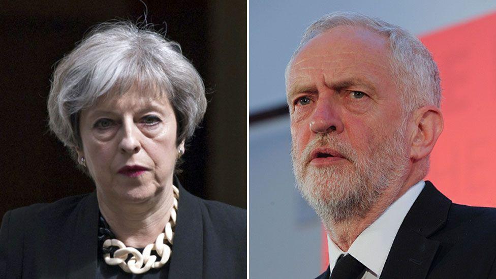 Theresa May and Jeremy Corbyn