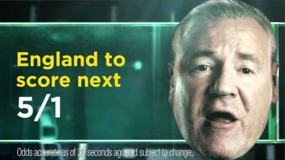 Ray Winstone and one of the Bet365 TV ads