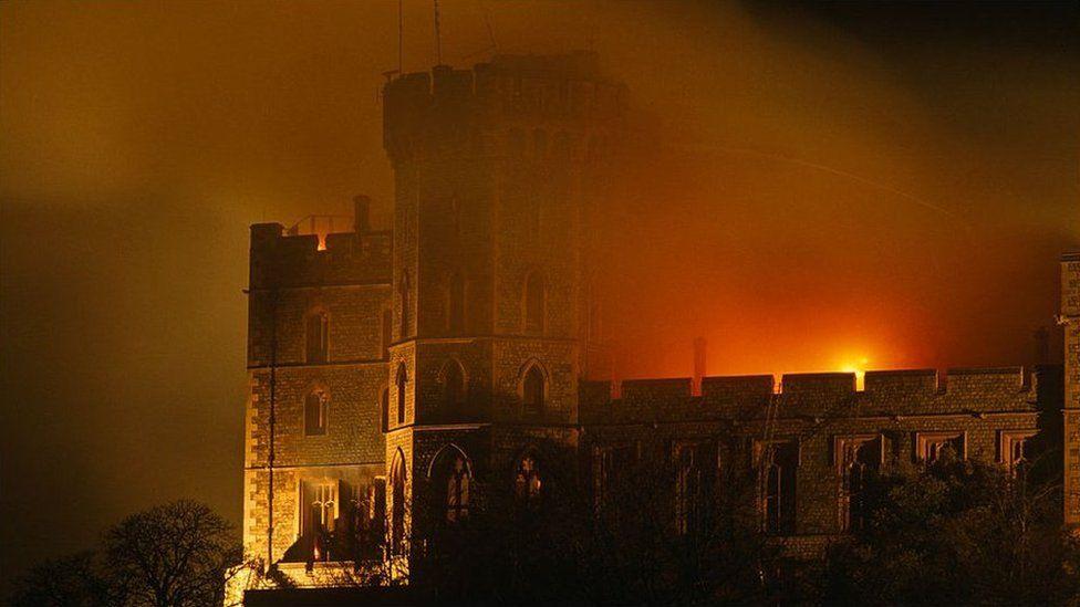 Windsor Castle fire in 1992