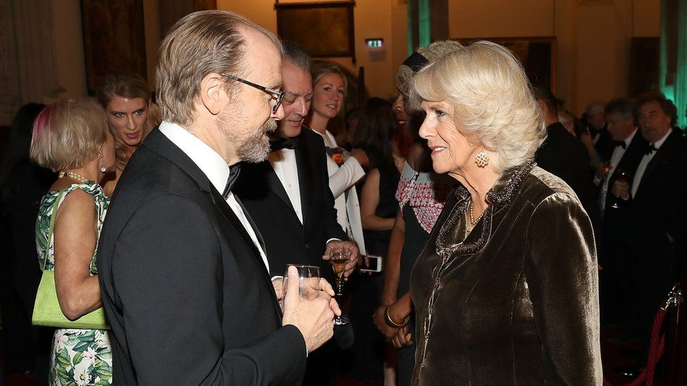 George Saunders meets the Duchess of Cornwall at London's Guildhall