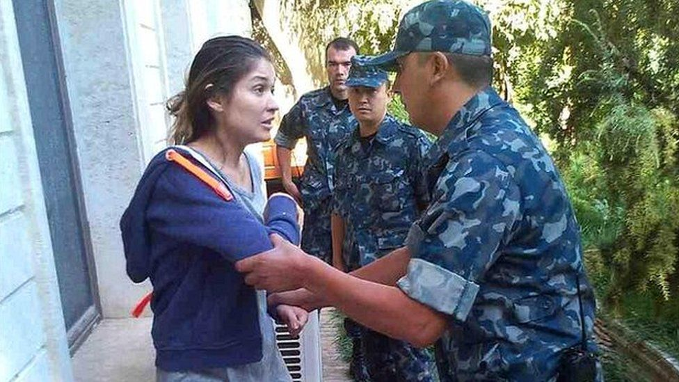 New pictures of Gulnara Karimova apparently under house arrest have been circulated by a London PR firm