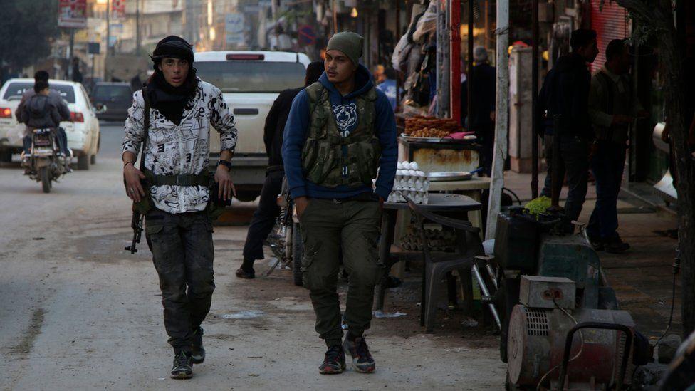 Turkish-backed Syrian rebels in Afrin, Syria (19 November 2018)