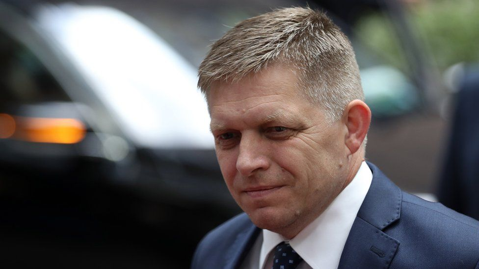 Prime Minister of Slovakia Robert Fico attends a European Council Meeting at the Council of the European Union on June 28, 2016