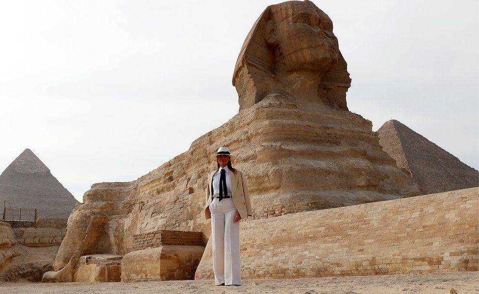 Melania Trump in Egypt. 6 Oct 2018