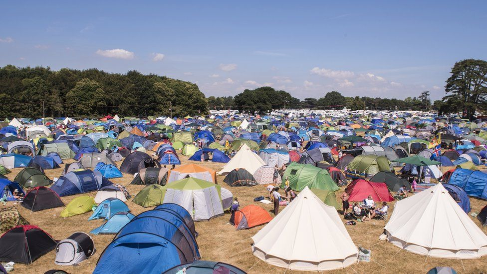 Tents at Latitude Festival