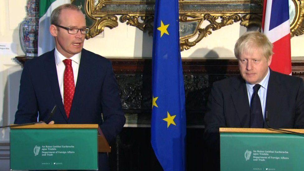 Mr Coveney and Mr Johnson