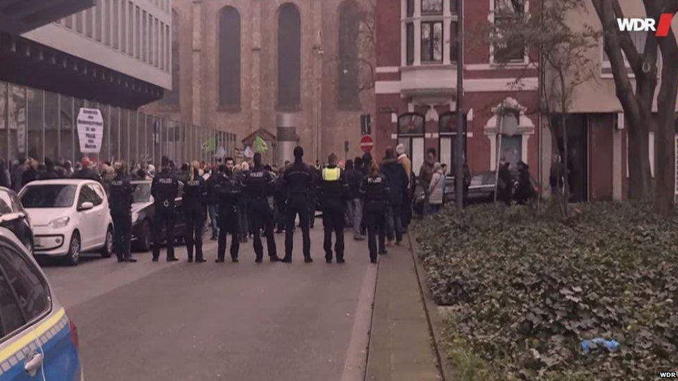 Demonstration against WDR broadcaster
