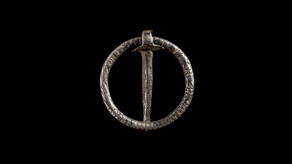 A Medieval silver brooch found in Cilcain, Flintshire