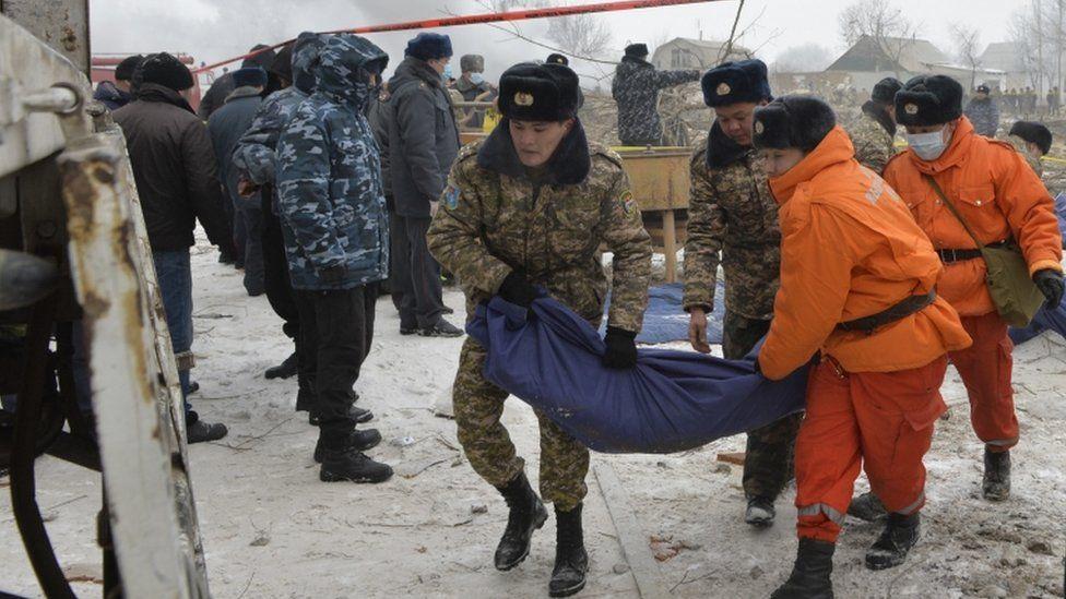 Kyrgyz crash site, 16 Jan