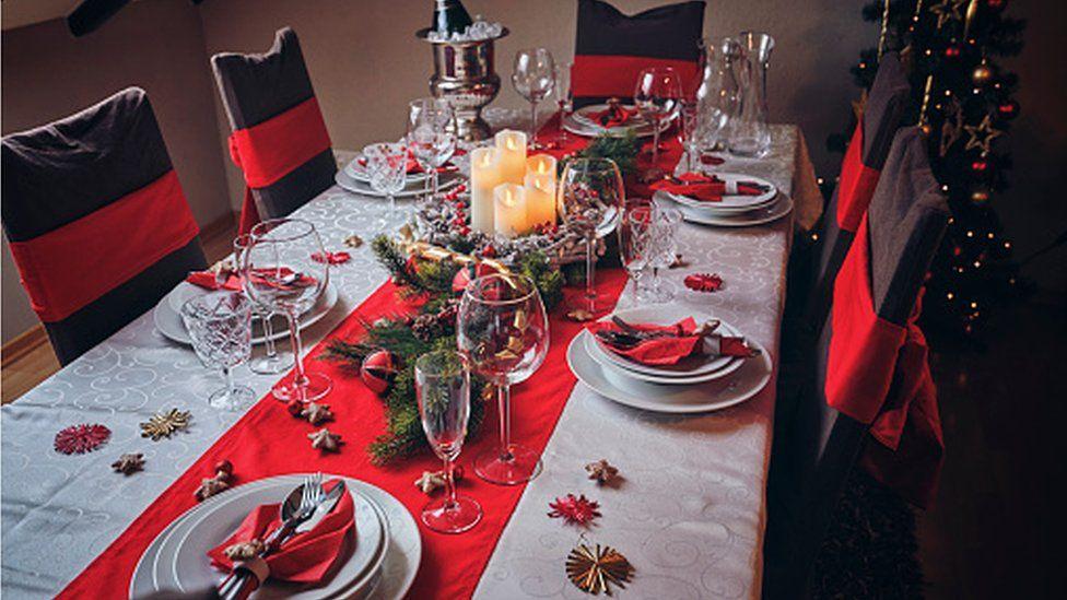 Table at Christmas
