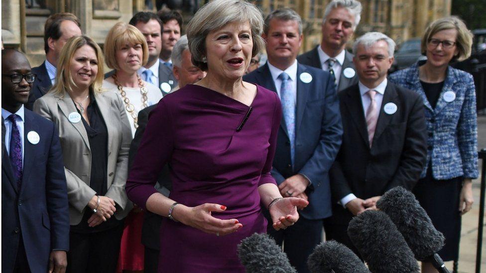 Theresa May after MP ballot