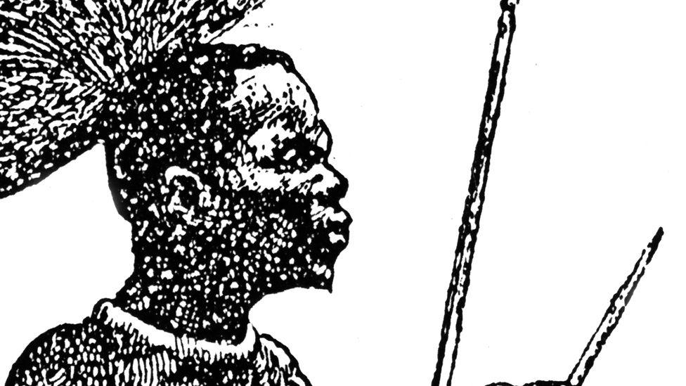 An 1888 engraving of El Betchuanas
