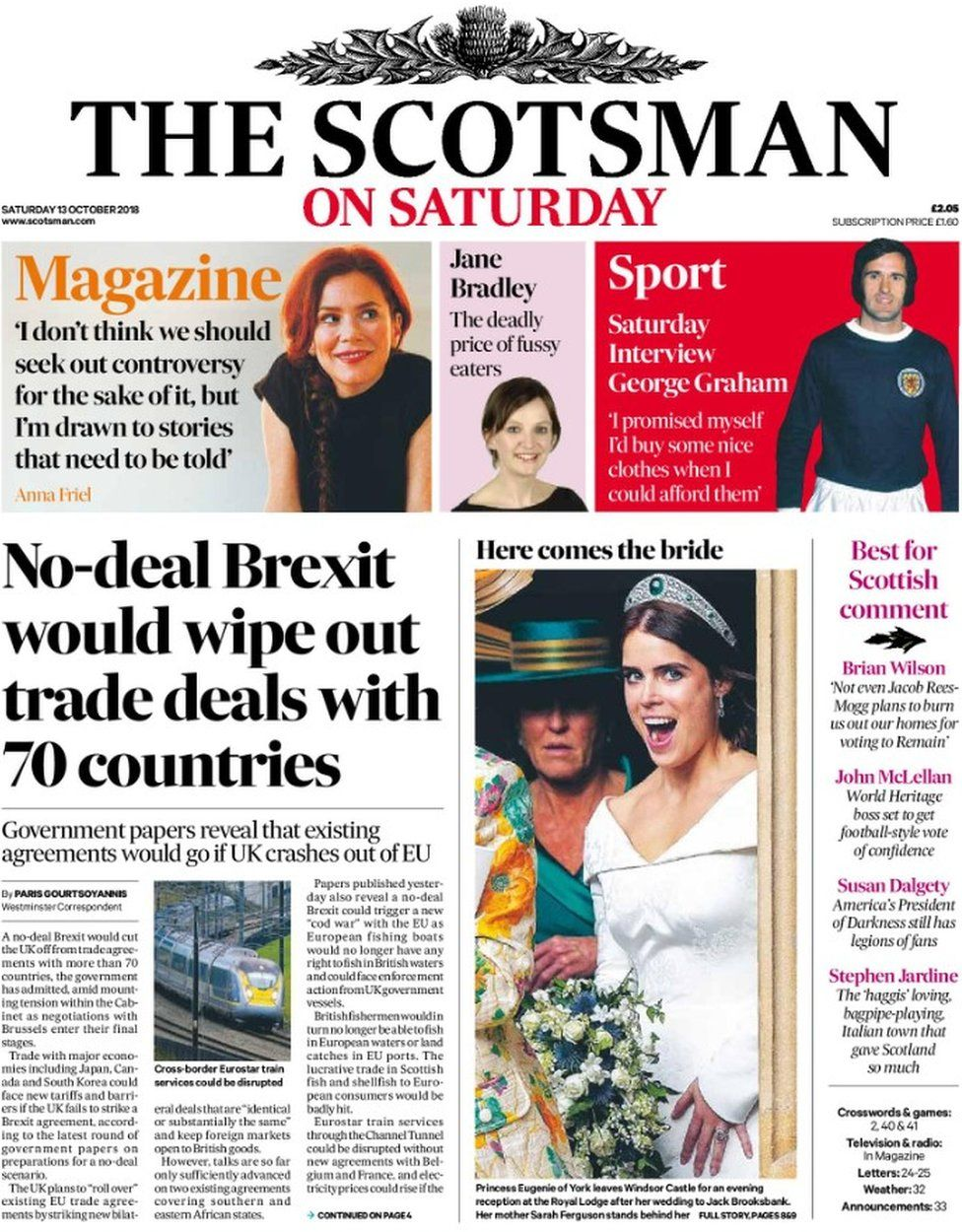 The papers: Brexit trade deals 'wipeout' and benefits call - BBC News