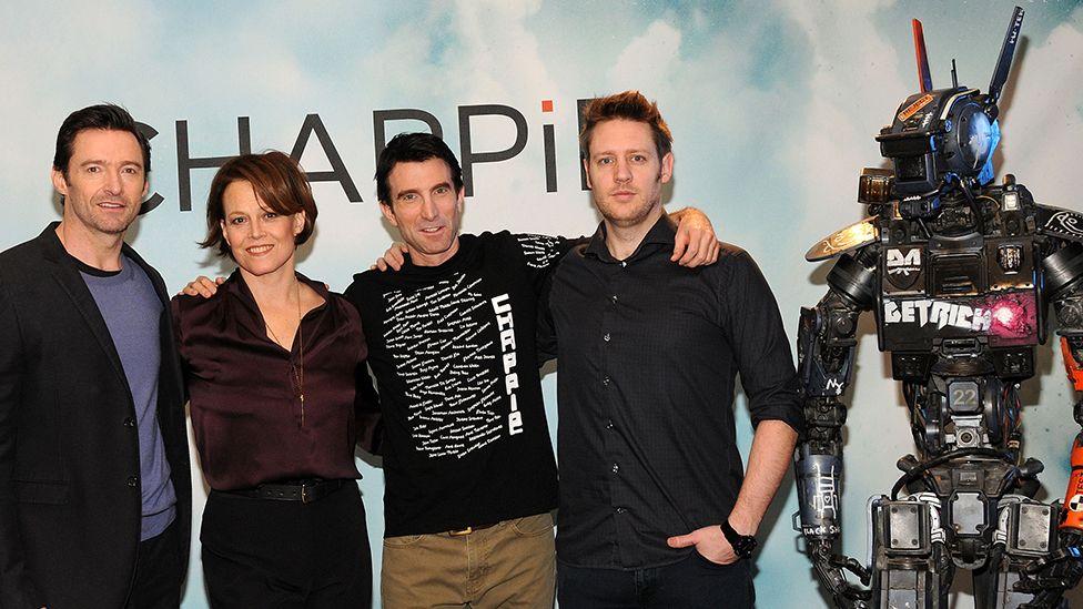 Hugh Jackman, Sigourney Weaver, Sharlto Copely and Neill Blomkamp