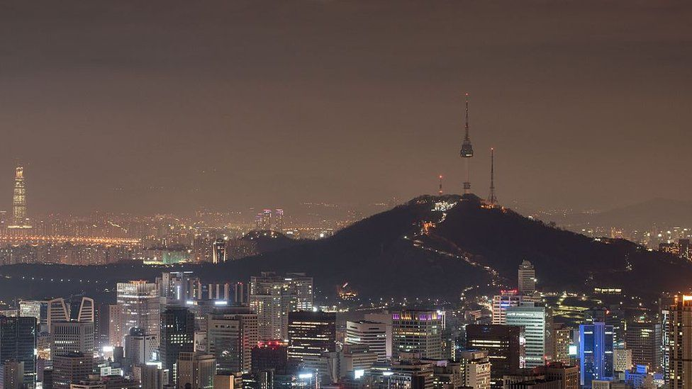 The skyline of the city of Seoul