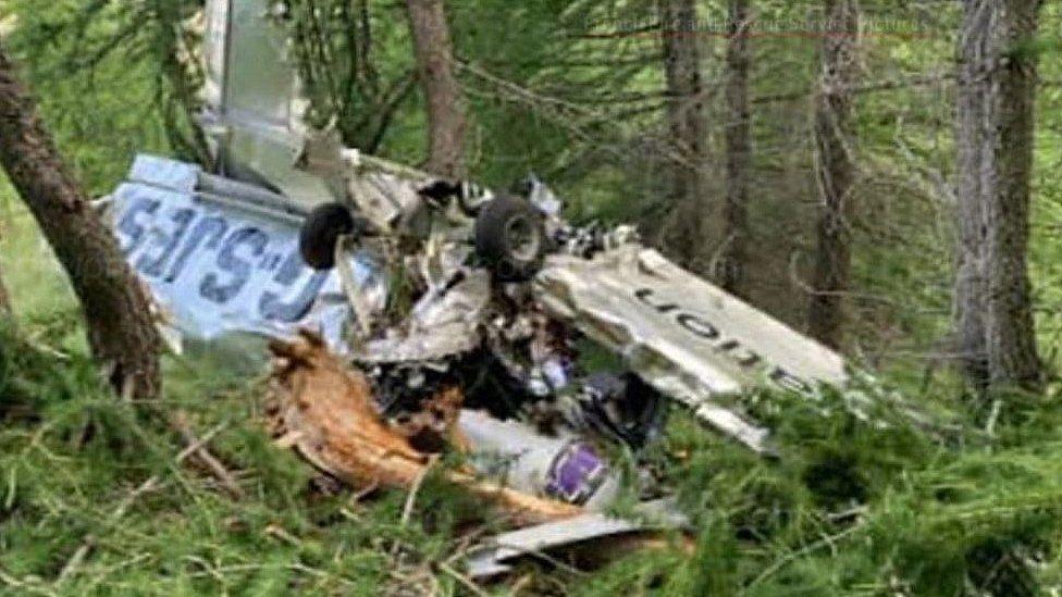 Scene of Alps plane crash