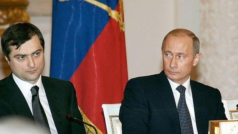 Surkov and Putin in 2006