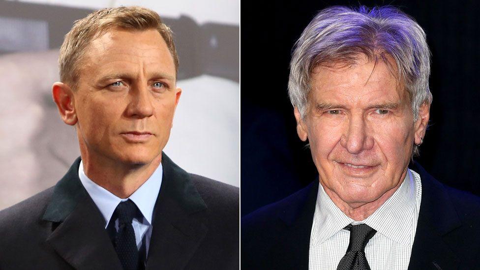 Daniel Craig and Harrison Ford