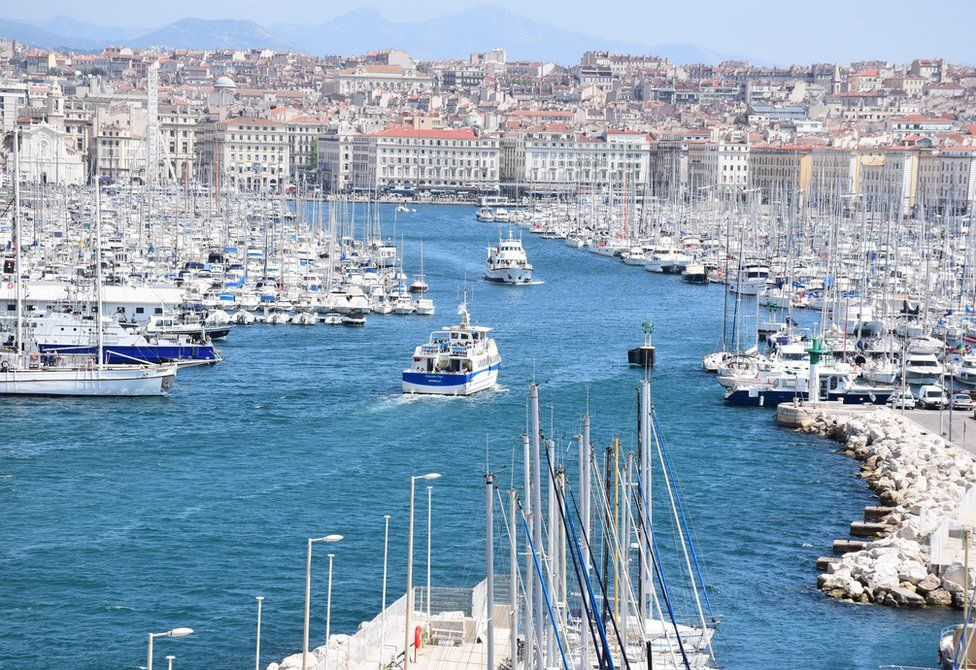 View of Marseille's old port, 12 April 2017