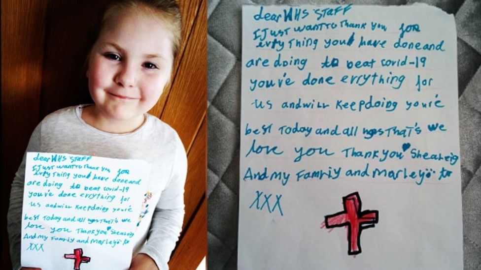 Shealeigh Thomas with her letter